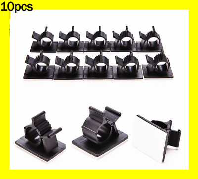 10pcs 10mm Nylon Cable Clips High Quality Adhesive Cord Management Wire Holder