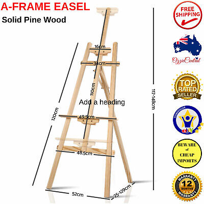 NEW A Frame Wooden Easel Signs Cafe Menu Display Wedding Artist Stand Decor Home