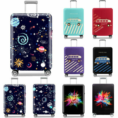 """Printed Luggage Suitcase Protector Anti Scratch Elastic Dust Case Cover 18 -32"""""""