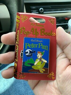 Disney Pin of the Month Pin Trading Pop Up Peter Pan LE 4000 In Hand