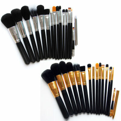 15Pcs Makeup Brushes Pro Cosmetic Make Up Brush Set Soft