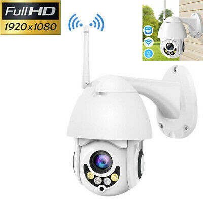 Waterproof 1080P HD WiFi PTZ Pan Tilt Security IP IR Camera Outdoor Night Vision