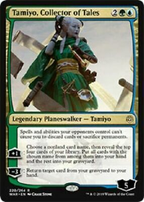 Tamiyo, Collector of Tales NM War of the Spark MTG Magic Gathering Gold Eng Card