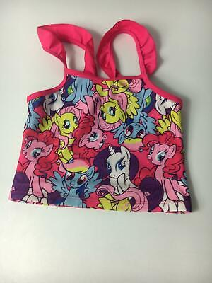 Girls My Little Pony Multi Colour 1 Piece Tankini Top Age 5-6 Swimsuit