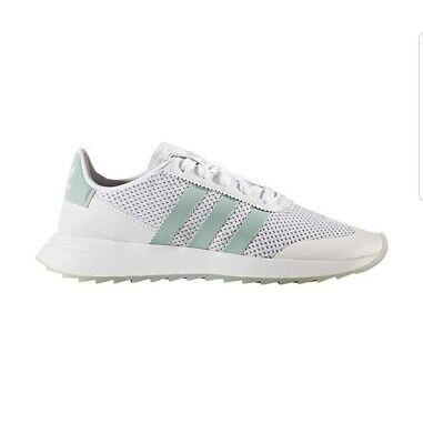 newest e2e41 38d26 Adidas Womens Originals FLB Running White Tactile Green Shoes BY9685 size  7.5