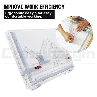 PRO A3 Drawing Board Table Tool Portable Drafting Kit Parallel Motion Adjustable