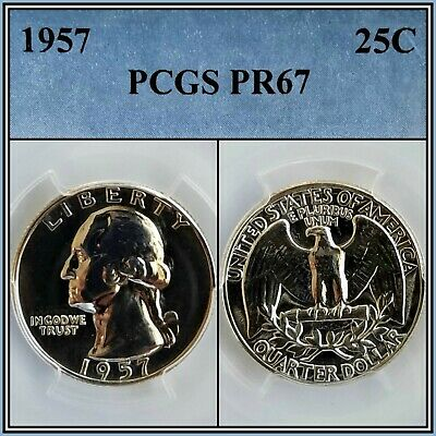 1957 Silver 25c Proof Washington Quarter PCGS PR67 Superb Gem Unc Coin