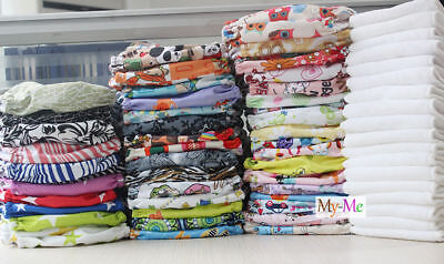 One Size Baby Cloth Diaper Lot Reusable Pocket Nappy Newborn Washable Hip Snap