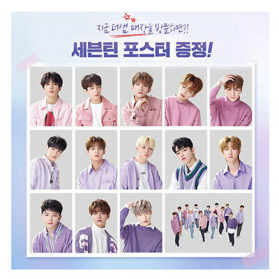 SEVENTEEN -The Saem Limited Individual Member Posters Bromides(Unfold)