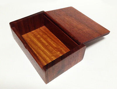 New Teak Wood Box Business Name Card Trinket Jewelry Wooden Craft Handmade