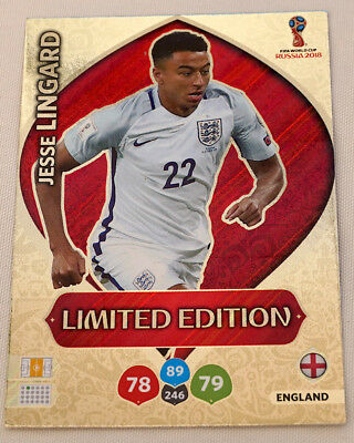 Jesse Lingard LIMITED EDITION FIFA World Cup Russia 2018 Adrenalyn XL Panini