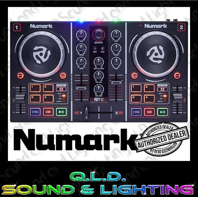 Numark Party Mix DJ Controller & Lights Incl. Serato Lite - Partymix - BRAND NEW