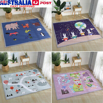 1.9x1.4m Baby Kids Nursery Play Crawling Mat Game Floor Blanket Foldable Home AU