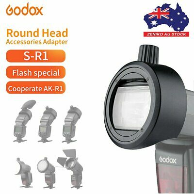 AU Godox Round Head Accessories Adapter S-R1 F Godox V860 TT685 TT600 V350 Flash