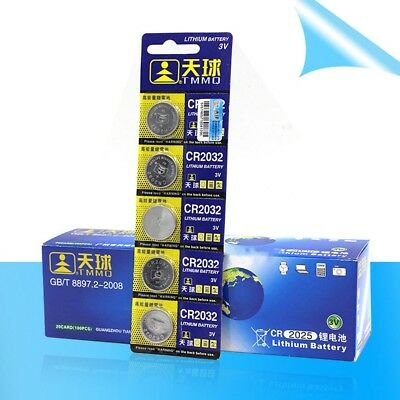 5Pcs 3 Volt Button Cell Electronic CR2032 DL2032 Li Battery Button Cells Battery