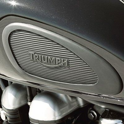 GENUINE Triumph Bonneville Scrambler Thruxton Knee Pad Kit Pair A9718009 50% OFF
