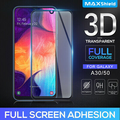 Samsung Galaxy A20 A30 A50 Full Cover Tempered Glass Film HD Screen Protector