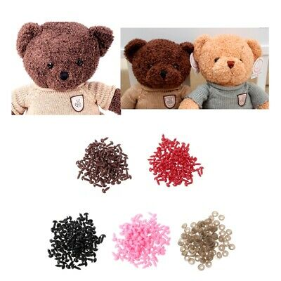 100Pcs For Animal Puppet Teddy Bear Doll Plastic Safety Triangle Velvet Noses