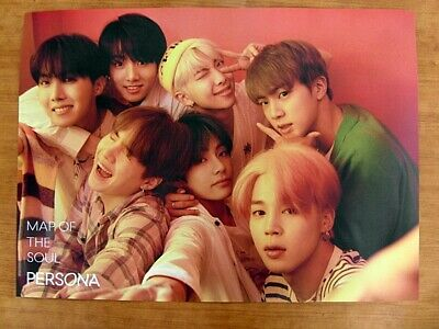 BTS - MAP OF THE SOUL : PERSONA (Ver. 1) [OFFICIAL] POSTER *NEW* K-POP