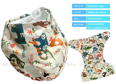 Baby Reusable Cloth Diapers One Size Washable Pocket Nappy Covers Insert