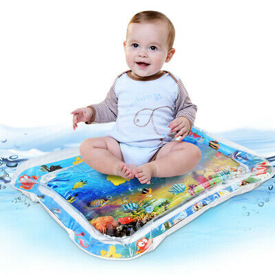 Baby Toddlers Kid Water Play Inflatable Mat Perfect Fun Tummy Time Play Infants