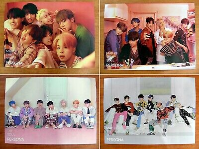 Bts - Map Of The Soul : Persona [Official] 4 Poster Set *New*