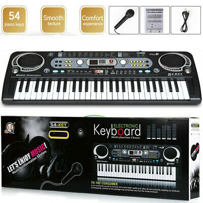 Musical Keyboard Piano 54 Keys Electronic Electric Digital Beginner Adult Set