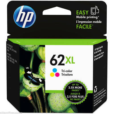 Genuine HP 62XL ( C2P07AE ) Original High Capacity Colour Ink Cartridge Vat Inc