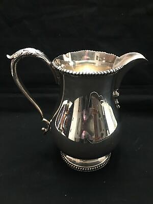 vintage antique E. G. WEBSTER & SONS SILVER plate WATER PITCHER jug tea