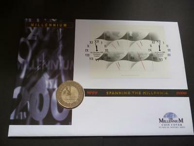 1999-2000 The Millennium coin cover pnc featuring 1999 £5 coin & four 64p stamps