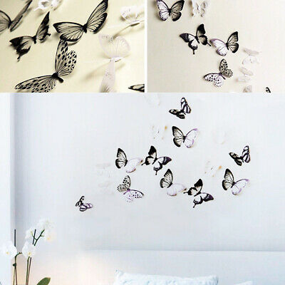 Home Decor 18pcs 3D Butterfly Wall Stickers Art Design Decal PVC Decoration