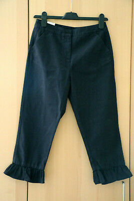 NEXT Girls Chatrcoal Ruffle Hem Cropped Trousers Age 13 Years BNWT