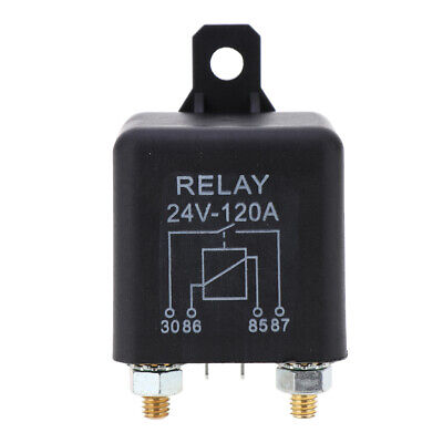 120A 2-Pin Car Relay Switch Automotive Changeover Relay 24V for Wench Truck