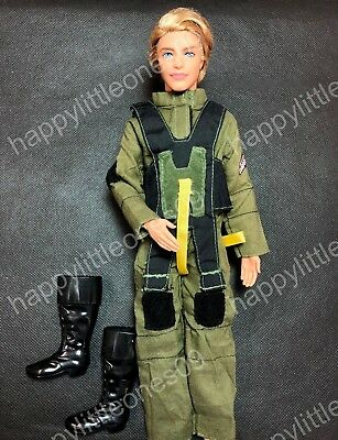 Ken Doll Pilot Flight Overall Suit Outfit Uniform Clothes &Tall Boots Barbie New