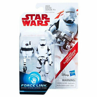 Star Wars Last Jedi First Order Flametrooper Force Link Action Figure Exclusive