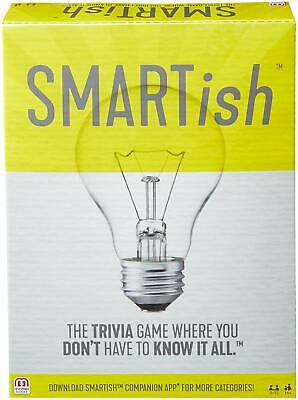 SMARTish Mattel Trivia Family Party Strategy Quiz Question Board Games Gift