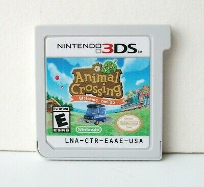Animal Crossing New Leaf (Nintendo 3DS) Game & Case 1st Print ~Add amiibo Cards~