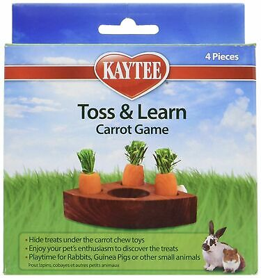 Kaytee Toss and Learn Carrot Game for Rabbits, Guinea Pigs, Small animals