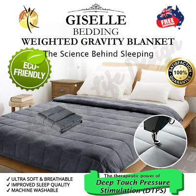 Giselle Bedding 2.3/ 5/ 7/ 9KG Cotton Weighted Blanket Heavy Gravity Plush Minky