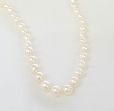 """* 585 14K 14Kt Yellow Gold 7.5 - 8 Mm Cultured Pearl 16"""" Long Necklace"""