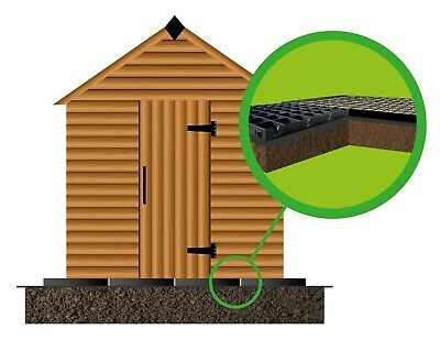 GARDEN SHED BASE KIT 6x4 - 8x4 ft ACTUAL = 2.5 x 1.2M PLASTIC IRELAND LISTING