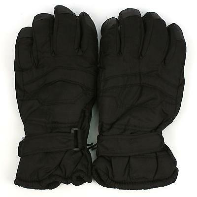 ad51da8ea Men's Winter Thinsulate 3M Snow Grip Ski Hook&Loop Wrist Cover Gloves Black  2XL