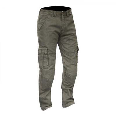 Merlin Portland Mens CE Approved Grey Cargo Motorcycle Jeans Regular Leg