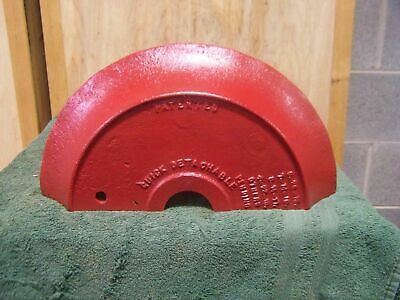 Antique 1919 Tractor Red Cultipacker Wheel Cast Iron Door Stop Country Farm