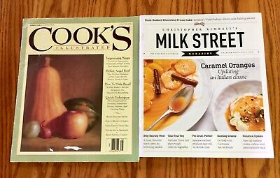 Cook's Illustrated Magazine 1992 # 1 Charter Issue & Milk Street Fall 2016 1st