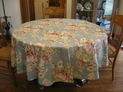 Round Floral Tablecloth~ Roses & Lilly