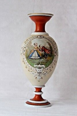 Antique French opaline glass vase end 19th century