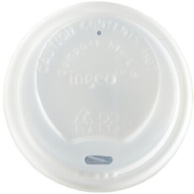 500 x 8oz WHITE CPLA Lids For Mixed Design Bamboo Biodegradable Compostable Cups