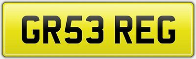 Gregs Rare Neat Car Reg Number Plate Gr53 Reg Fees Paid - Greg Grg Gregg Gregory