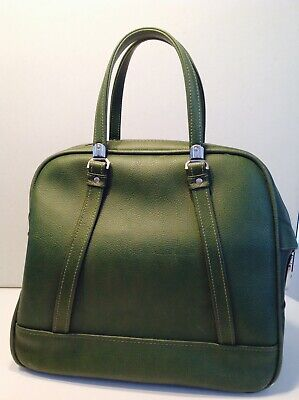 Vintage 1960's American Tourister ESCORT Olive Tote Bag Carry On. VG Condition